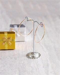 Серьги-кольца из дубайского золота 6см