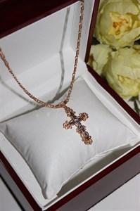 Крестик из дубайского золота (арт.9412)