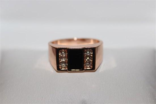 Кольцо-печатка из Дубайского золота - фото 12614