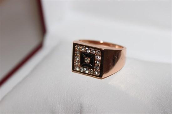 Кольцо-печатка из Дубайского золота - фото 12619