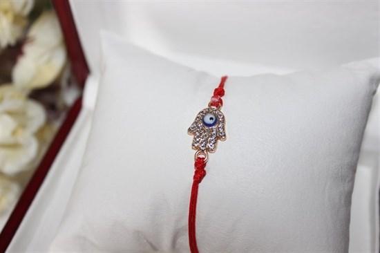 Красная нить  рука с глазом (золото) (Б10) - фото 27781