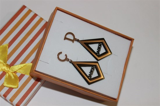 Серьги из дубайского золота - фото 32114