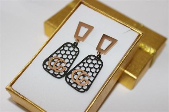 Серьги из дубайского золота - фото 32173