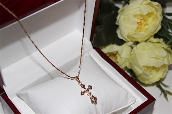 Крестик из дубайского золота (арт.9417) - фото 33275