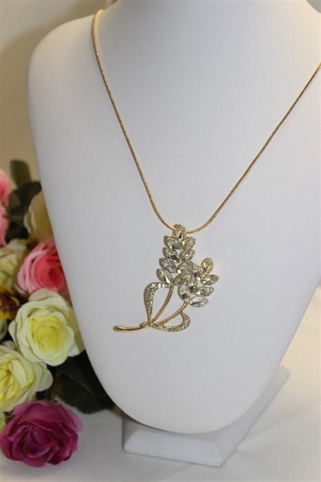 """Шикарное колье из дубайского золота """"Счастливая ветвь цветка"""" - фото 35165"""