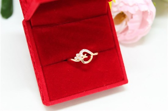 """Кольцо из дубайского золота  """"Солнечная баллада"""" - фото 42427"""