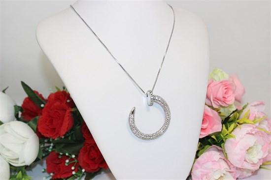 "Колье из дубайского серебра  ""Лунная красавица"" - фото 61702"
