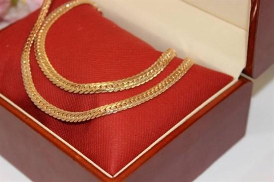 """Набор цепь+браслет из Дубайского золота """"Сабина"""" - фото 76345"""