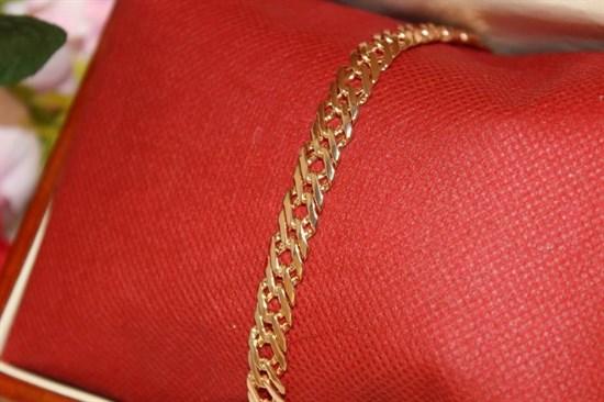 Браслет из Дубайского золота двойной ромб 0,8 см - фото 76497