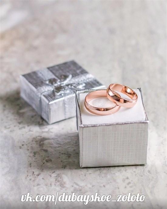 Обручальное кольцо из Дубайского золота 0,4 мм - фото 7993