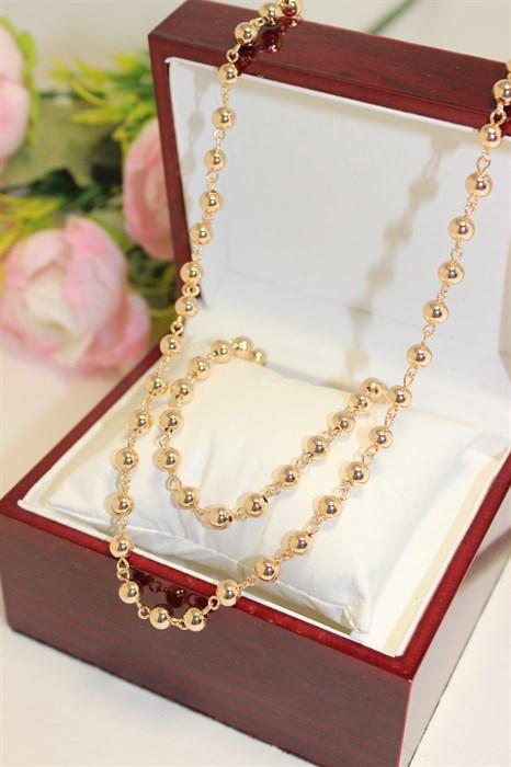 """Набор цепь+браслет из Дубайского золота """"Шахерезада"""" - фото 81252"""