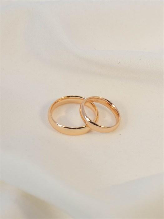 Обручальное кольцо из Дубайского золота 0,4 мм - фото 88401