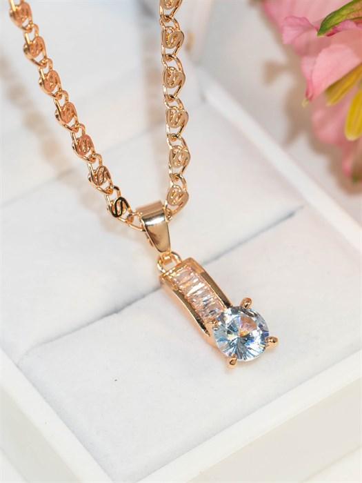 """Кулон из Дубайского золота """"Кристальное искушение"""" - фото 91567"""