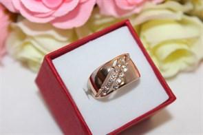 """Кольцо из дубайского золота """"Драгоценный момент"""""""
