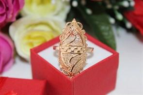 """Кольцо из дубайского золота """"Сокровище Персии"""""""