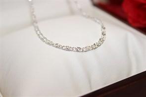 """Цепочка из Дубайского серебра """"Звездная нежность""""0,3 см"""
