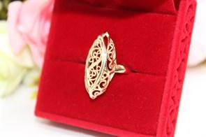 """Кольцо  из Дубайского золота  """"Узоры счастья"""""""