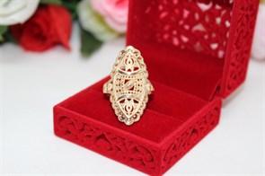 """Кольцо  из Дубайского золота  """"Солнечная тайна"""""""