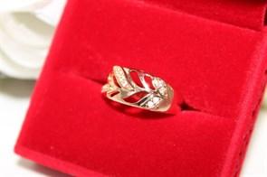 """Кольцо из Дубайского золота """"Звонкие узоры"""""""