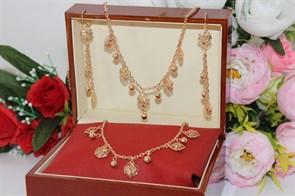 """Набор из дубайского золота """"Королевская роза"""""""
