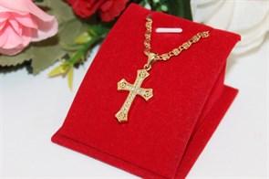 Комплект  цепочки с крестиком из дубайского золота