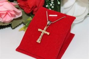 Комплект  цепочки с крестиком из дубайского золота  и серебра