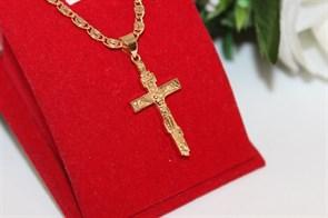 Крестик из дубайского золота