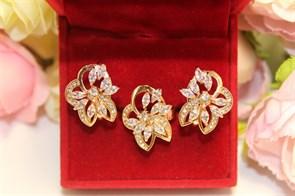 """Набор из дубайского золота """"Хрустальные орхидеи"""""""