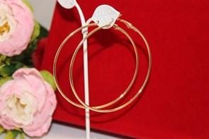 """Серьги кольца из Дубайского золота """"Жаркая Африка"""" 7,0 см"""