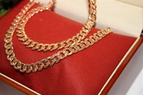 """Набор из Дубайского золота """"BULGARI"""" 0,8 см"""