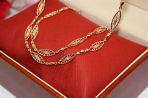"""Набор цепь+браслет из Дубайского золота """"Венеция"""""""