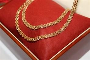 """Набор цепь+браслет из Дубайского золота """"Скорпион"""" 0,5-0,6 см"""