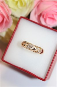 """Кольцо  из дубайского золота """"Николь"""""""