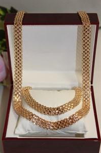 """Набор цепь+браслет из Дубайского золота """"Императорское великолепие"""""""