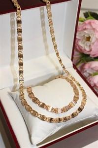 """Набор цепь+браслет из Дубайского золота """"Афродита"""""""
