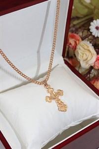 """Комплект цепочки с крестиком из дубайского золота """"Божественная сила"""""""
