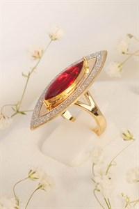 """Кольцо из дубайского золота """"Пламя души"""""""