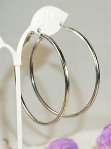 """Серьги-кольца """"Мерцание серебра"""" 6,0 см  (А9)"""
