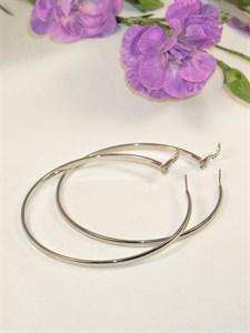 """Серьги-кольца """"Сияние серебра"""" 6,0-7,0 см  (А9)"""
