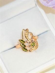"""Кольцо из дубайского золота  """"Летнее утро"""""""