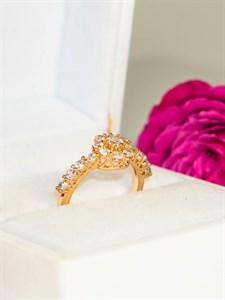 """Кольцо из дубайского золота """"Изабель"""""""
