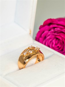 """Кольцо из дубайского золота """"Айсылу"""""""
