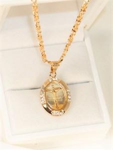 Комплект  православный из дубайского золота