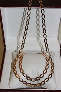 """Набор цепь+браслет из Дубайского золота """"Золотые оковы"""