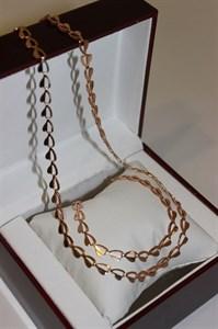 """Набор цепь+браслет из Дубайского золота """"Love"""""""